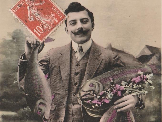 Poisson D'Avril (April Fish) Carte Postale (Post Card)