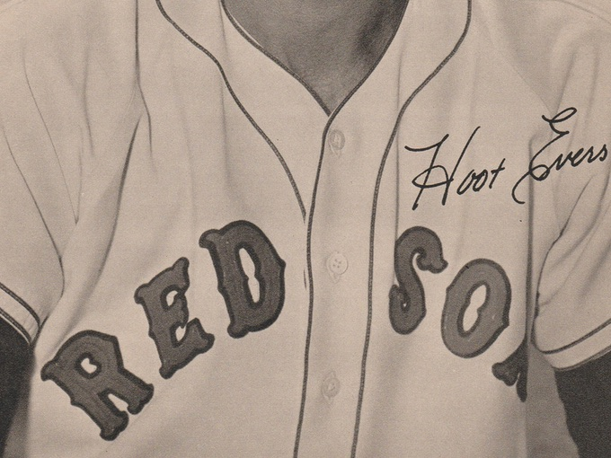 1952 Red Sox Baseball Promotional Photo — Hoot Evers, Starting Left Fielder