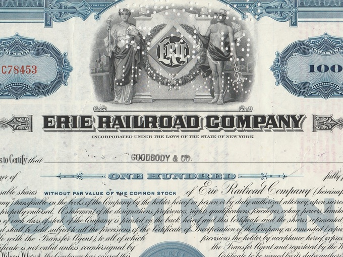 1948 Erie Railroad Company — Common Stock Certificate