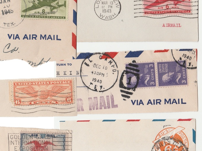U.S. Air Mail (Related) Postage Stamps — Interesting Mix (Lot of 6)