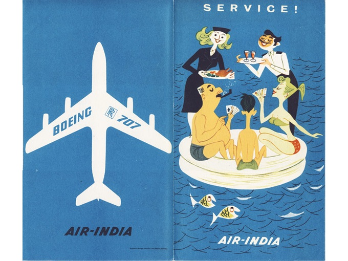 1950s Air-India Brochure Featuring a Boeing 707