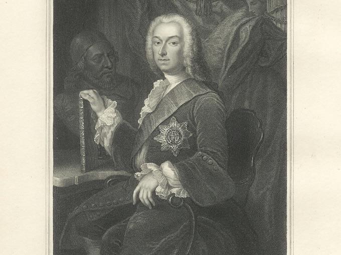 1835 Engraving RICHARD BOYLE, Third Earl of Burlington
