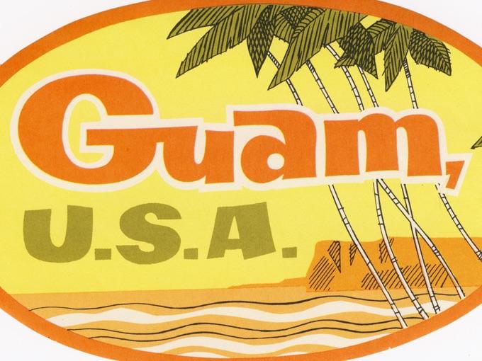Vintage Luggage Sticker from Guam, U.S.A.
