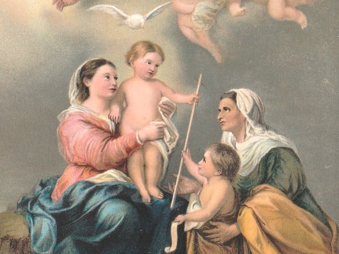 Early 1900s Art Postcard - La Vierge de Seville by Murillo