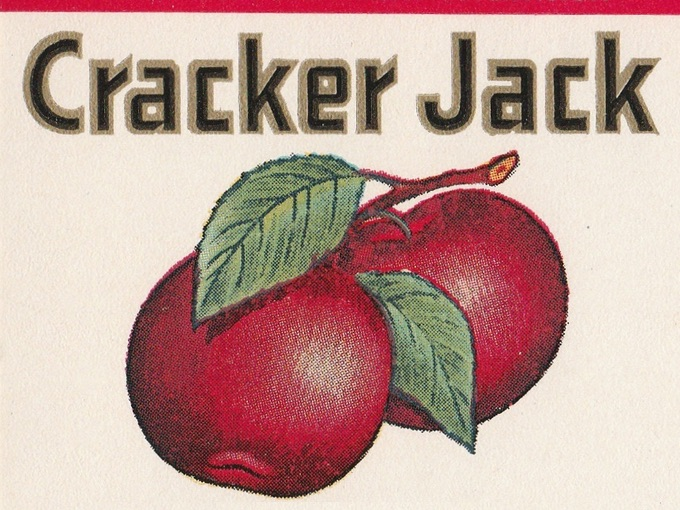 Cracker Jack Straight Apple Brandy APPLE JACK Label