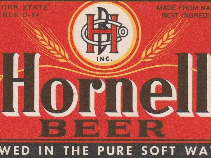1945 Beer Label, Hornell Brewing Co. — Hornell, N.Y.