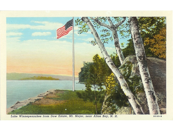 Vintage Postcard of Lake Winnipesaukee, Near Alton Bay, N.H.
