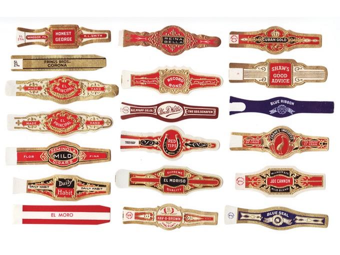 Lot of 19 Vintage Cigar Bands