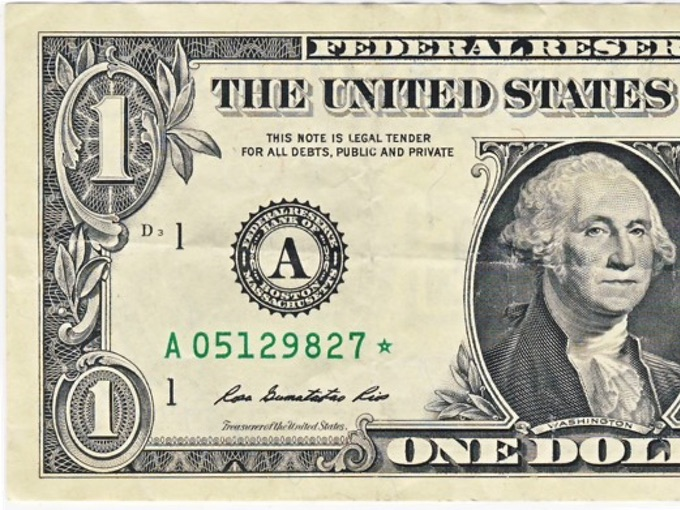 Series 2009 One Dollar Star Note (Star in Serial Number)