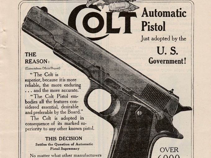 1920s Colt Automatic Pistol Ad from Munsey´s Magazine