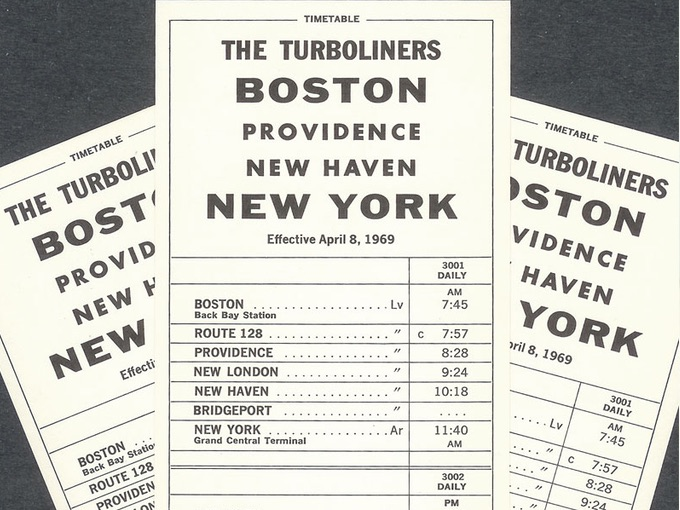 Penn Central Timetable Cards — April 8, 1969 (Lot of 3)