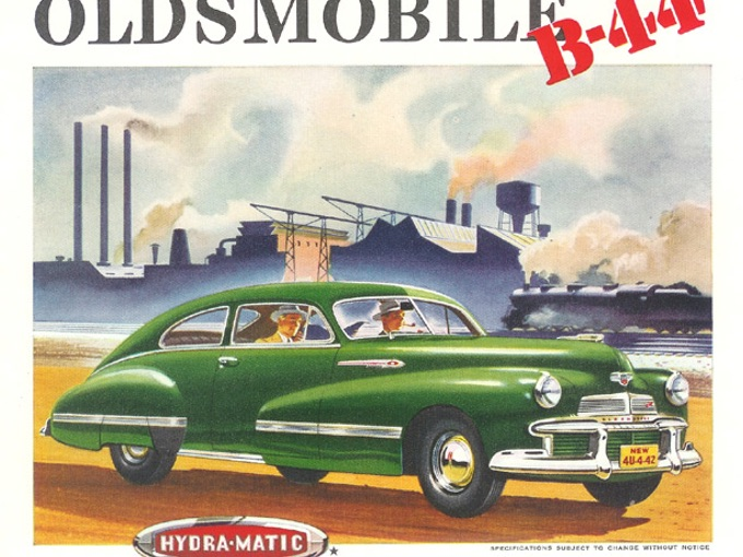 1941 Oldsmobile B-44 Hydra-Matic Large Format Ad