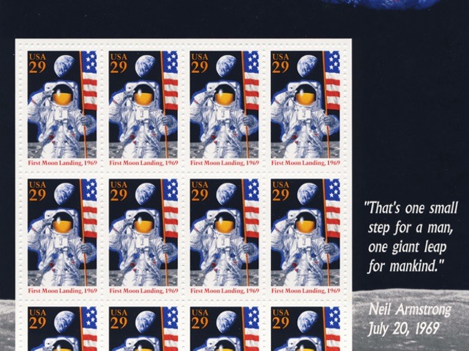 25th Anniversary of the First Moon Landing Stamp Sheet