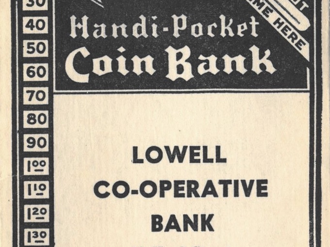 1940s Handi-Pocket Coin Bank — Paper Coin Bank