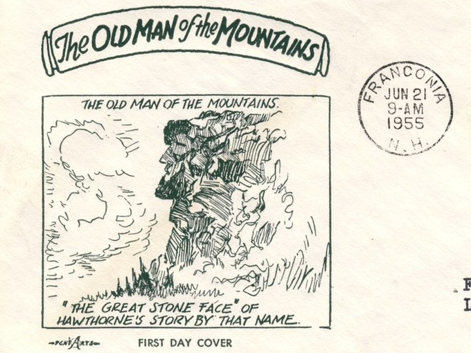 1955 The Old Man of the Mountains — Illustrated First Day Cover