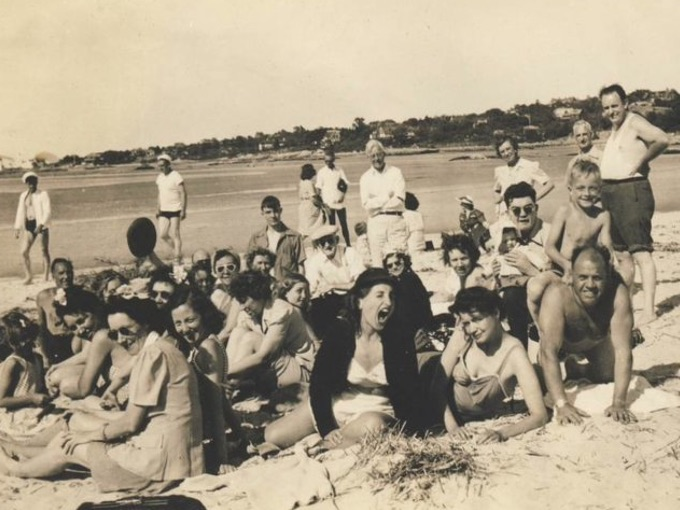 1940s Beach Party Photograph