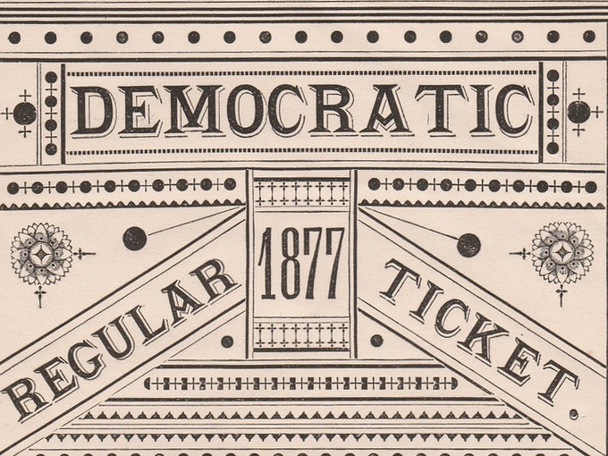 1877 Democratic Regular Ticket, William Gaston for Governor
