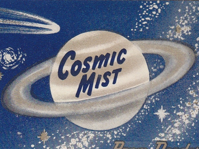 Cosmic Mist Can Label (Unused) — Chicopee, Mass.