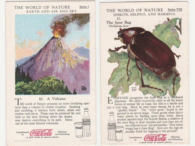 1930s The World of Nature, Coca-Cola Trading Cards (Lot of 6)