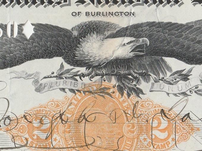 1900 Merchants National Bank Check — Burlington, VT.