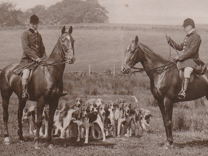 1910 The Hunting Morn — English Fox Hunt