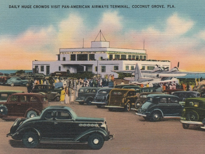 Daily Huge Crowds Visit Pan-American Airways Terminal, Coconut Grove, FLA.