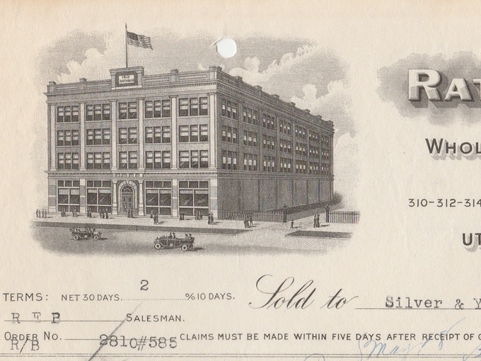 1932 Rathbun & Co., Illustrated Billhead Receipt — Utica, N.Y.