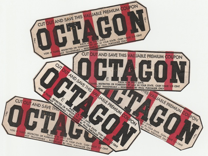 1920s Octagon Soap Premuim Coupons (Lot of 15)