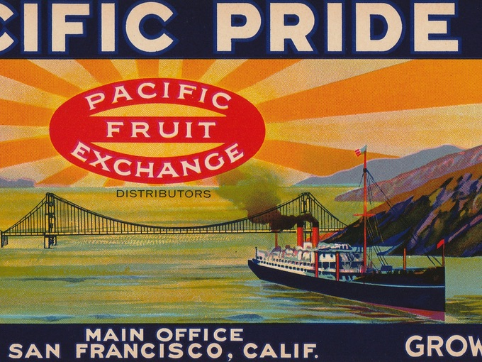 Pacific Pride, Emperors, Crate Label — San Francisco, CALIF.