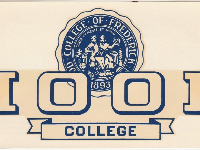 1950s Hood College Window Decal — Frederick, Maryland (Unused)