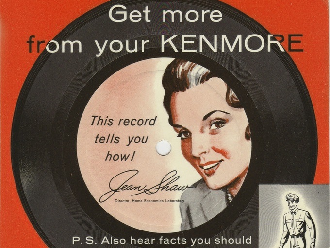 1950s Kenmore Service Promotional Record — 33 1/3 R.P.M.
