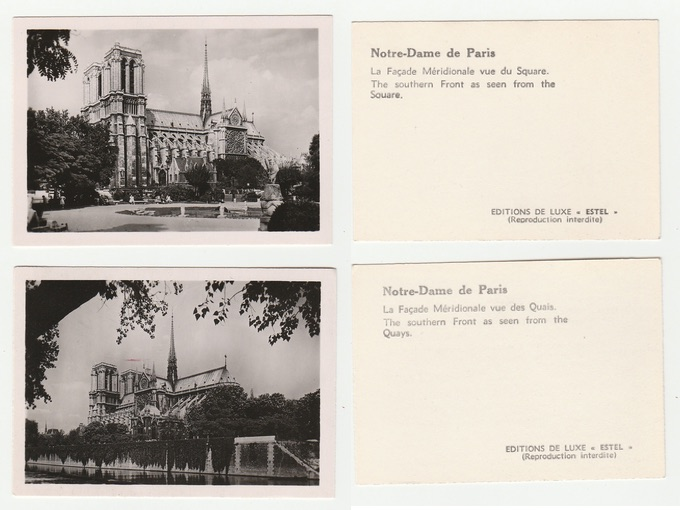 1950s Mini Views Of Notre-Dame Cathedral — Paris, France