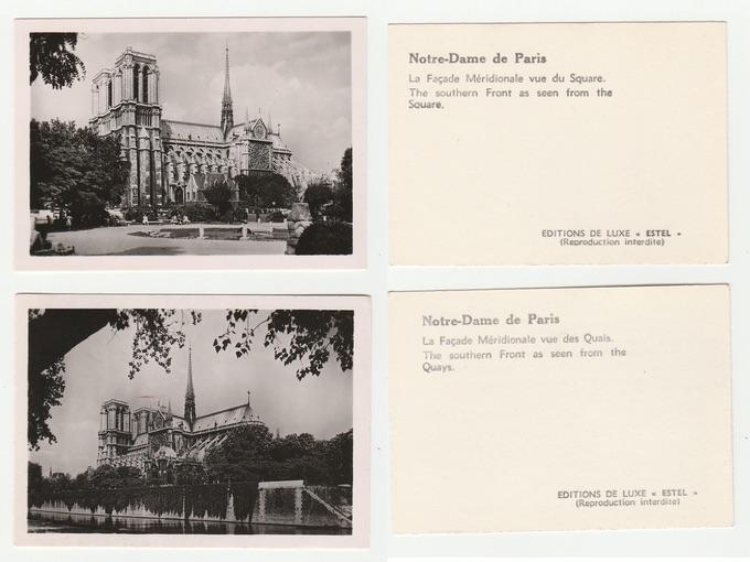 1950s Mini Views Of Notre-Dame Cathedral — Paris, France
